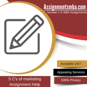 5 C's of marketing Assignment Help