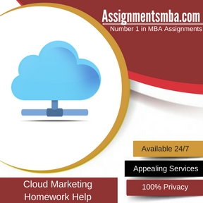 Cloud Marketing Homework Help