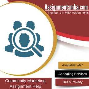 Community Marketing Assignment Help