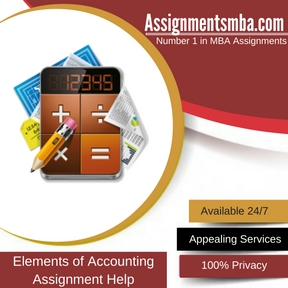 Elements of Accounting Assignment Help