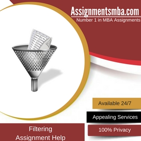 Filtering Assignment Help