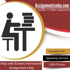 Help with Eviews Homework Assignment Help