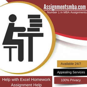 Help with Excel Homework Assignment Help