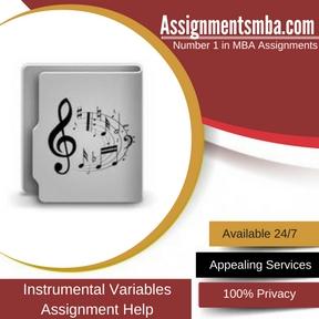 Instrumental Variables Anssigment Help