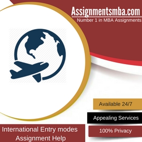 International Entry modes Assignment Help