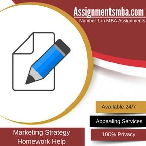 Marketing Strategy Homework Help
