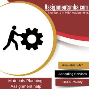 Materials Planning Assignment Help