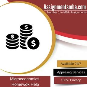 Microeconomics Homewok Help