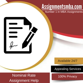 Nominal Rate Assignment Help