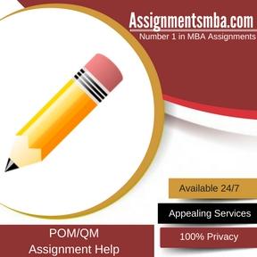 POM/QM Assignment Help