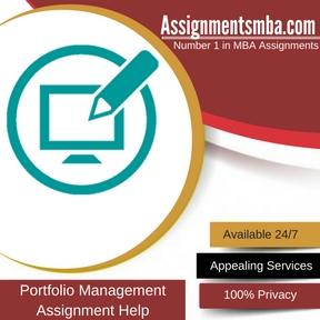 Portfolio Management Assignment Help