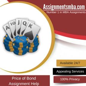 Price of Bond Assignment Help