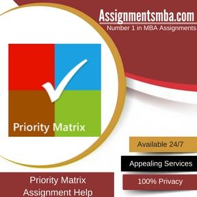 Priority Matrix Assignment Help