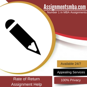 Rate of Return Assignment Help