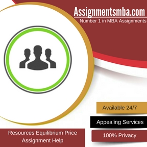 Resources Equilibrium Price Assignment Help