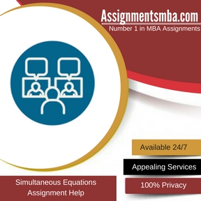 Simultaneous Equations Assignment Help