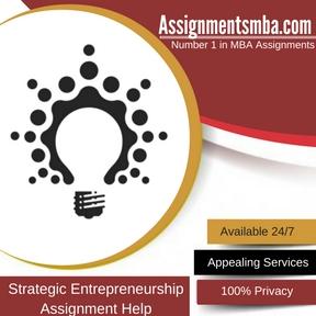Strategic Entrepreneurship Assignment Help