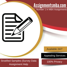 Stratified Samples (Survey Data) Assignment Help