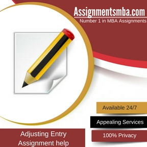 Adjusting Entry Assignment Help