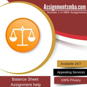 Balance Sheet Assignment Help