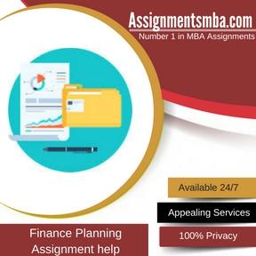 Finance Planning Assignment Help