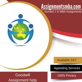 Goodwill Assignment Help