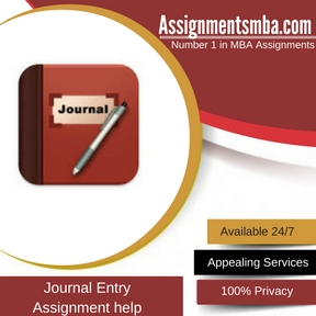 Journal Entry Assignment Help