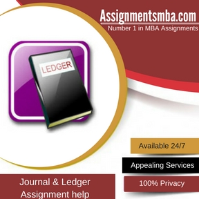 Journal & Ledger Assignment Help