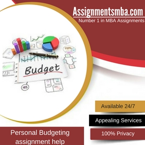 Personal Budgeting Assignment Help