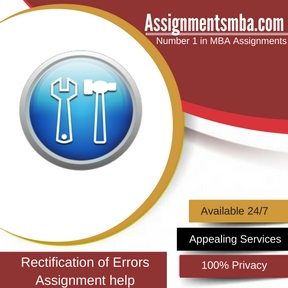 Rectification of Errors Assignment Help