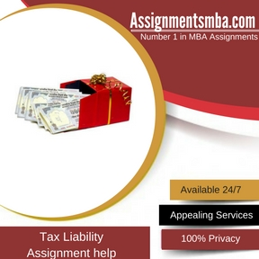 Tax Liability Assignment Help